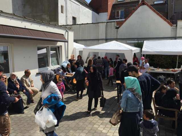 Bezoek moslimbegraafplaats in Zwijnaarde